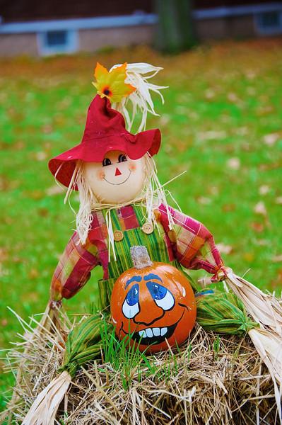 Happy Halloween lawn decoration in Baldwinsville, New York.