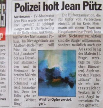 Kunstausstellung in Mettmann mit Jean Pütz