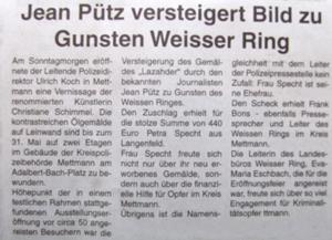 Jean Pütz versteigert Kunst in Mettmann