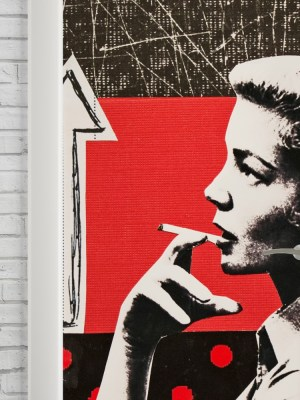 Adesivo de Porta Vintage Cigarette