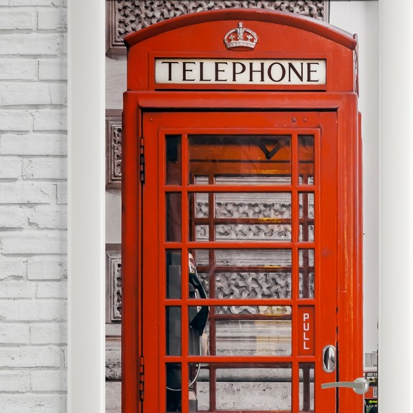 Adesivo de Porta London Telephone