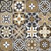 KIT de Adesivo Azulejo Preto Marrom Branco