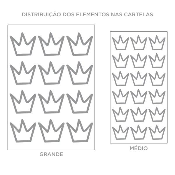 Kit de Adesivos de Parede Coroas Irregulares