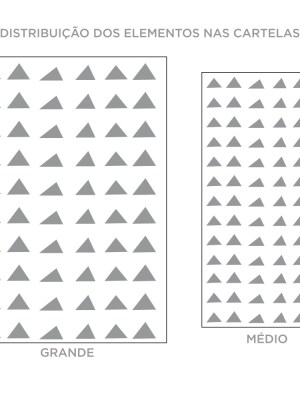 Kit de Adesivos de Parede Triângulos Irregulares