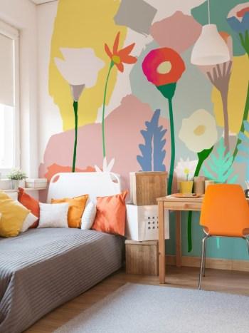Painel Fotográfico Aquarela Flores