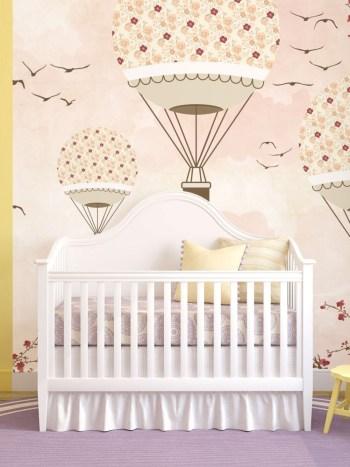 Painel Fotográfico Infantil Balão Rosa