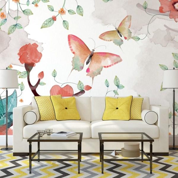 Painel Fotográfico Natureza Flores Aquarela