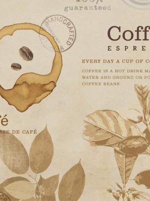 Papel de Parede Adesivo Gourmet Vintage Coffee