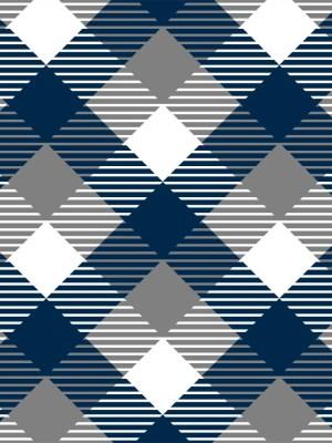 Papel de Parede Adesivo Xadrez Azul e Cinza