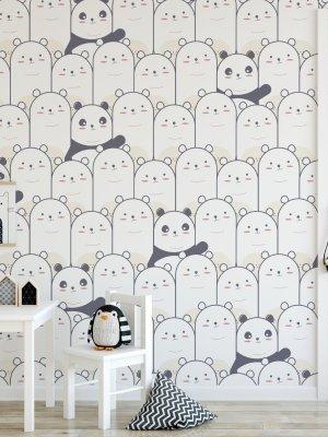 Papel de Parede Adesivo Pandas