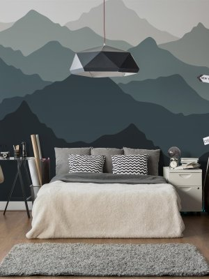 Painel Fotográfico Montanhas Degrade
