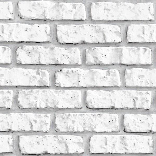 Papel de Parede Adesivo Tijolo Branco TEXTURIZADO