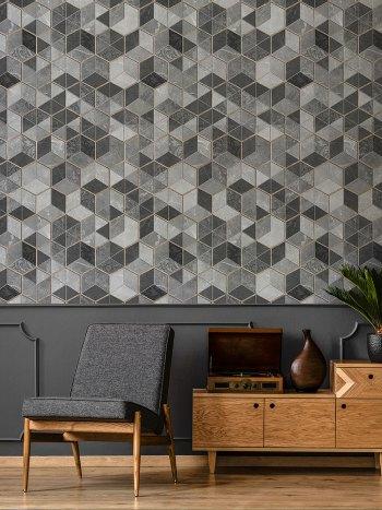 Papel de Parede Textura Geométrica