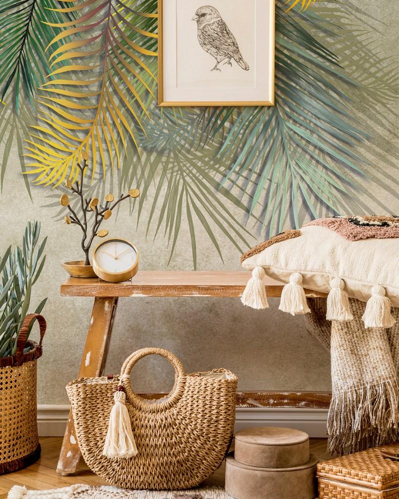 Painel Fotográfico Tropicalia Beige