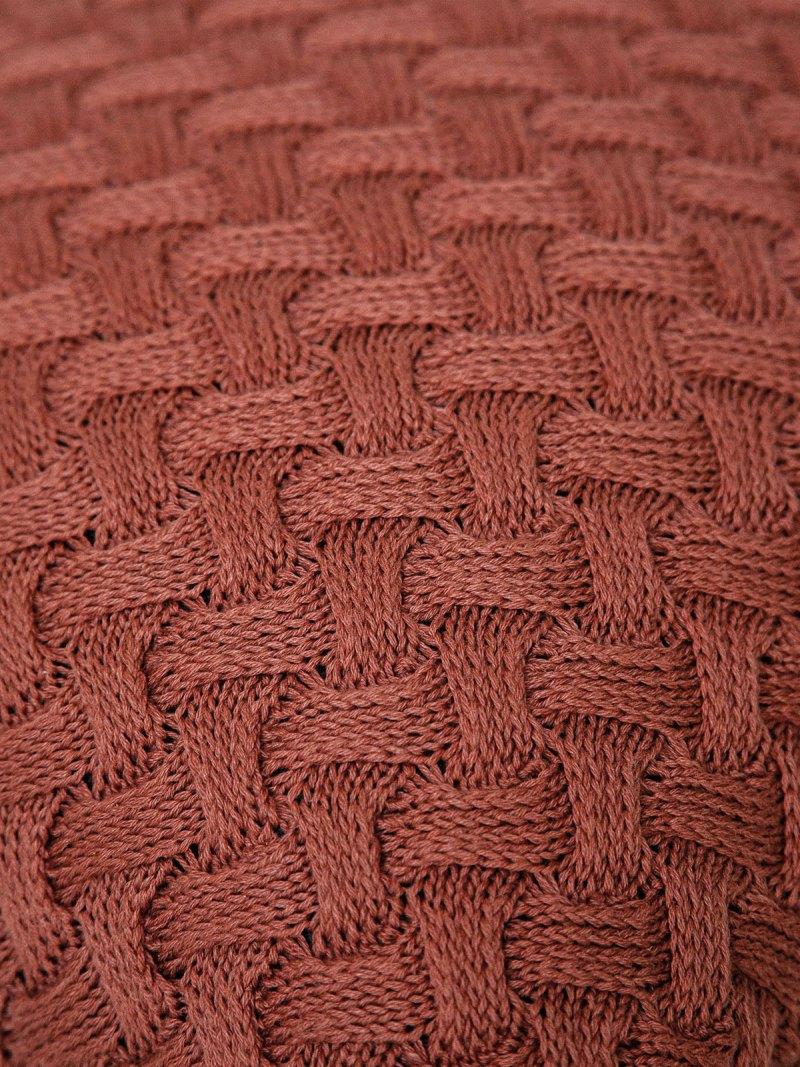 Almofada de Tricot Berenice Trançada Terracota