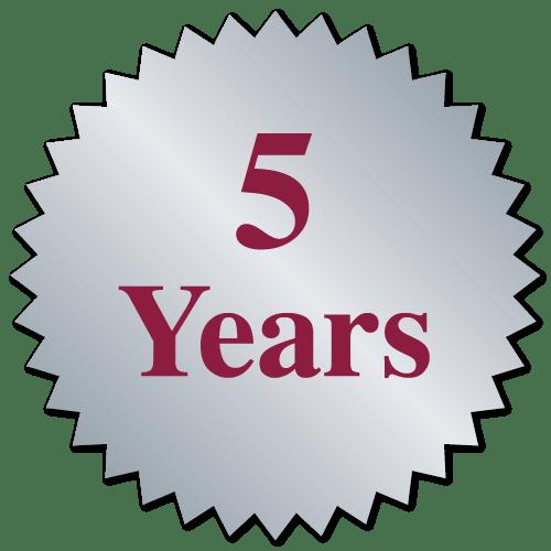 """5 Years"""" Burst Circle Stickers"""