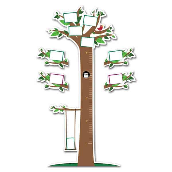 Tree Growth Chart Height Wall Chart Sticker Genius