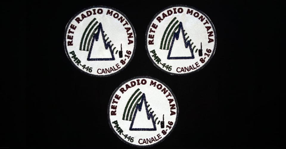Patch ufficiale Rete Radio Montana – base RIFRANGENTE – 3 pezzi