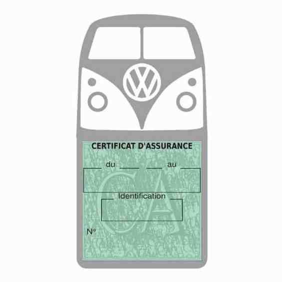 Vignette assurance Volkswagen Kombi T1 Split gris