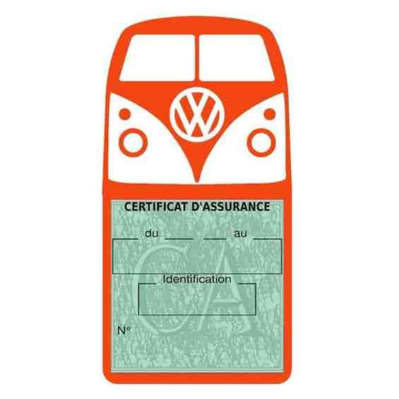 Vignette assurance Volkswagen Kombi T1 Split orange