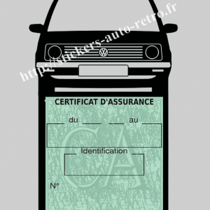 Porte étui assurance voiture VW Polo 1