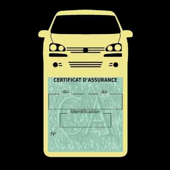 GOLF 6 Vignette assurance voiture Volkswagen beige