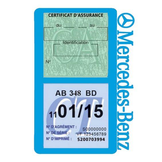 Mercedes Benz porte assurance voiture bleu clair