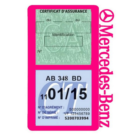 Mercedes Benz porte assurance voiture rose