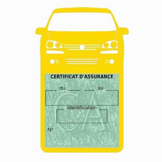 GOLF 6 Vignette assurance voiture Volkswagen jaune clair