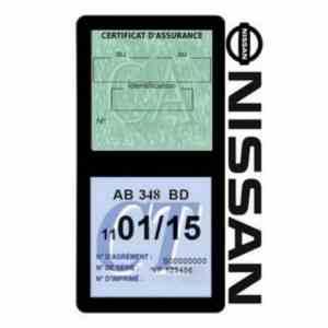 NISSAN Vignette assurance voiture double pochette noir