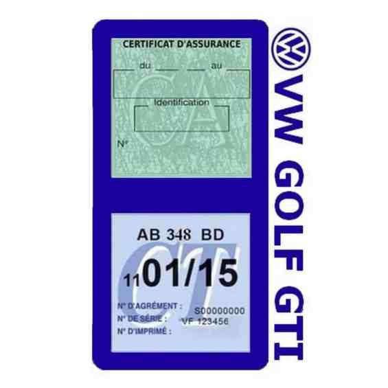 GOLF GTI vignette assurance Volkswagen bleu foncé