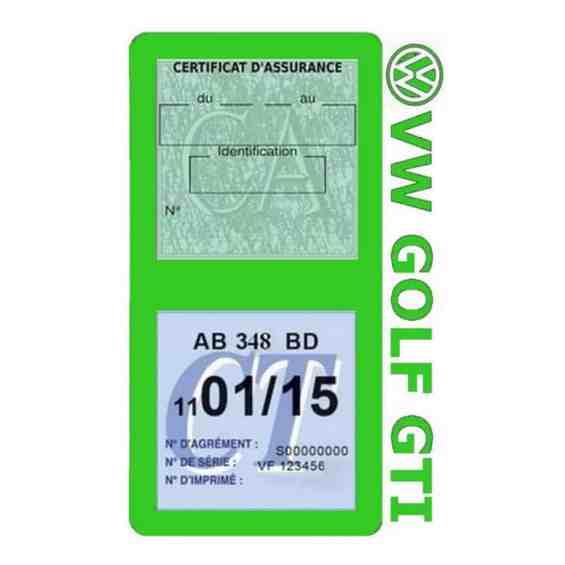 GOLF GTI vignette assurance Volkswagen vert clair