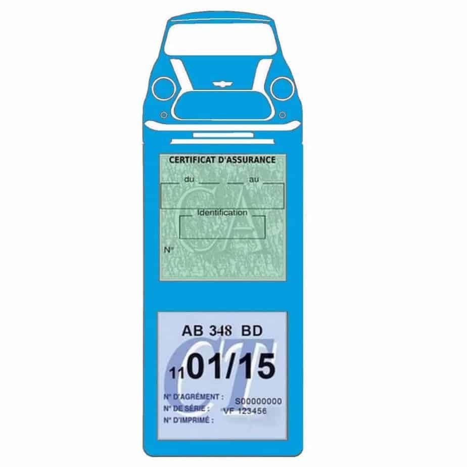 Mini Cooper BMW étui assurance auto méga bleu clair