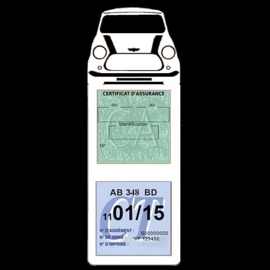 Mini Cooper BMW étui assurance auto méga blanc