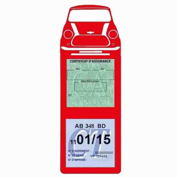 Mini Cooper BMW étui assurance auto méga rouge