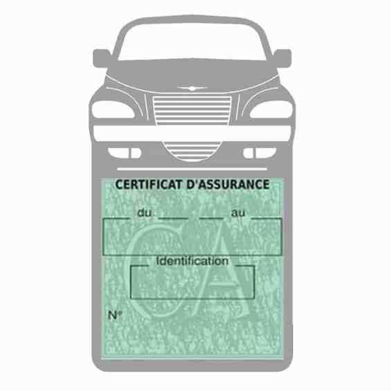 Etui assurance voiture PT Cruiser Chrysler gris