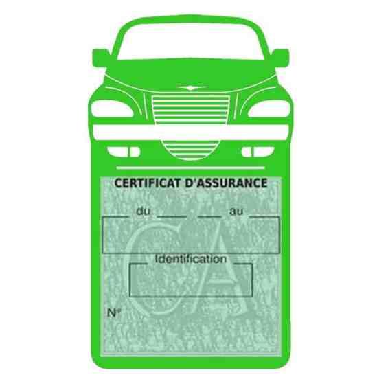 Etui assurance voiture PT Cruiser Chrysler vert clair