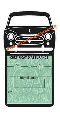 Porte assurance Peugeot 403 autocollant pare-brise