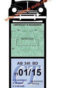 Porte vignette assurance méga 4 CV Renault