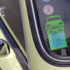 Porte vignette assurance Ami6 Citroën vert clair