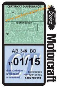 Pochette Ford Motorcraft double étui assurance voiture