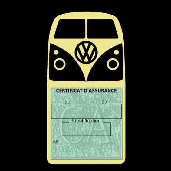 Vignette assurance Volkswagen Kombi T1 Split beige