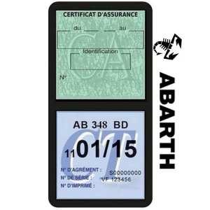 Pochette étui assurance auto ABARTH