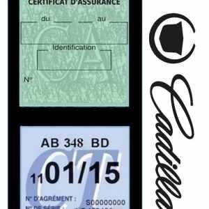 Pochette étui assurance auto CADILLAC noire