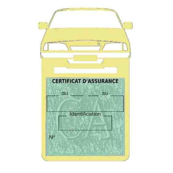 AX CITROEN vignette assurance voiture beige