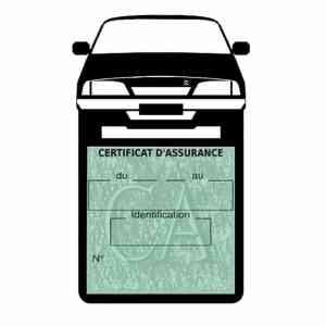 AX CITROEN vignette assurance voiture