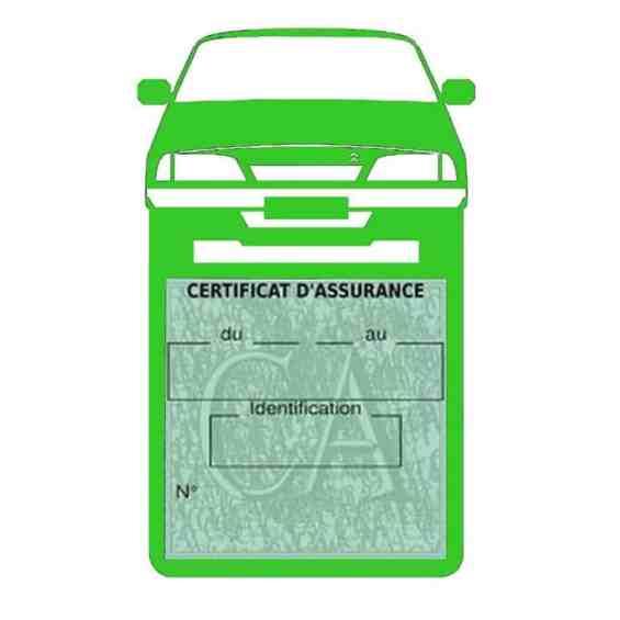 AX CITROEN vignette assurance voiture vert clair