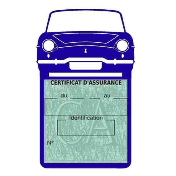 RENAULT CARAVELLE pochette assurance voiture bleu foncé