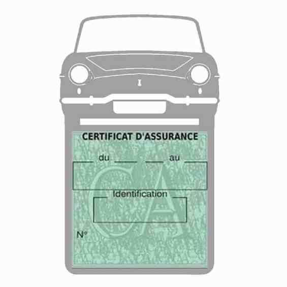 RENAULT CARAVELLE pochette assurance voiture gris