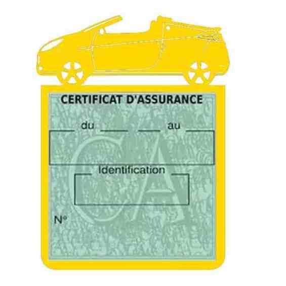 WIND RENAULT étui assurance voiture jaune